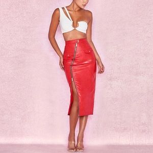 Dresses & Skirts - GAEL Sexy Faux Leather Skirt